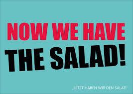 lustige postkarten spr che now we the salad denglisch echte postkarten versenden