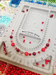 jewelry making tip use a bead design board to layout your pattern