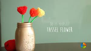 diy tassel flower youtube