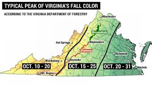up and down weather is having an effect on fall color in va and