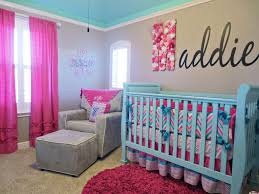 aqua crib bedding pink gray clarion decors decorated aqua crib