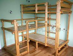 Bunk Beds For Three These Pine Bunk Beds Are An Absolutely Wonderful Way To Add Three