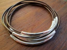 bracelet sets brown leather bangle bracelet set women s leather