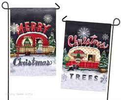 evergreen garden flag ds tree lot merry christmas rv camper