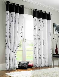 Black And White Curtain Designs Modern Living Room Curtains Design Home Decor