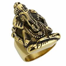 vintage fashion rings images Valily jewelry men 39 s large hindu elephant god ring stainless steel jpg