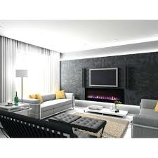 regal flame inch crystal built in recessed wall mounted electric