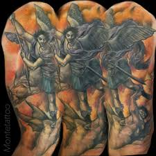 montetattoo saint michael arm tattoo saint michael angel arm