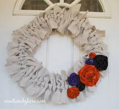 shabby canvas wreath tutorial halloween style