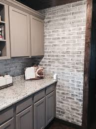 faux brick backsplash in kitchen beautiful gray brick backsplash white grey tile kitchen and veneer