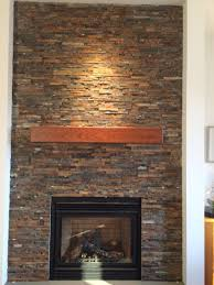 handmade cherry modern beam fireplace mantel by custom corners