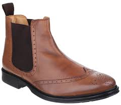 cotswold nettleton mens slip on boots tan country boots and