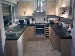 kitchen silver hood color on nice backsplash tile and casual