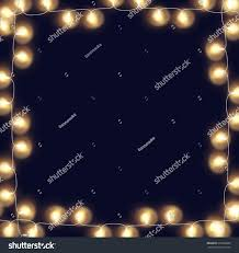 glowing lights frame stock vector 607326899