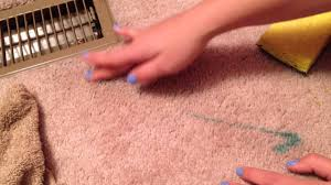 how to get nail polish out of carpet youtube