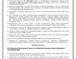 resume mechanical engineer sample piping engineer sample resume