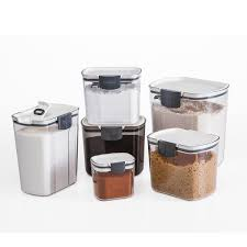 kitchen storage canisters airtight food storage containers set of 6 kitchen pantry