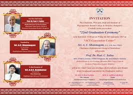 Invitation Card For Graduation Day 22nd Graduation Day Sept 2017 Rrdch