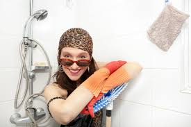 how to clean hard water stained and soap scummy shower doors