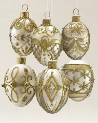 And Gold Glass Ornaments Set Of 12 Noel Ornaments Balsam Hill