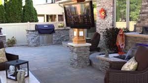 novi michigan outdoor gazebo with cultured stone fireplace and