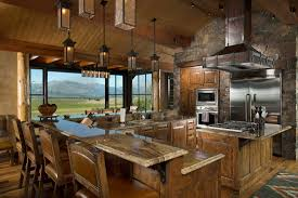 log home kitchen design ideas rustic style kitchen bar outofhome