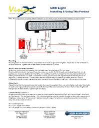 Led Light Bar Installation by Generic Led Light Installation Instructions Vision X Usa