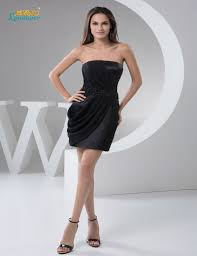 online get cheap satin black short dress aliexpress com alibaba