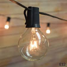 Patio String Light Fantado 25 Socket Outdoor Patio String Light Set G40 Clear Globe