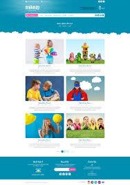 bibo baby u0026 kids store ecommerce psd template by nova creative