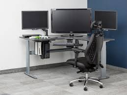 wonderful ergonomic gaming desk adjustable height legs corner