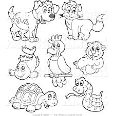 pet animals pictures for colouring