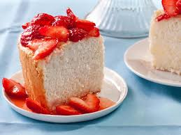 apricots and herbed strawberries with angel food cake recipe