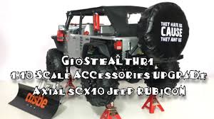 jeep accessories axial scx10 jeep accessories 1 10 upgrade youtube