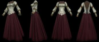 wedding dress skyrim noble wedding dress elder scrolls skyrim clothing images