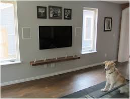 Tv Wall Mount Ideas by Tv Wall Mount Wood Shelf