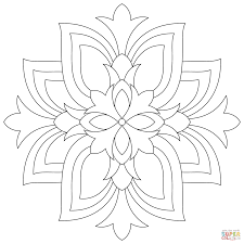 lotus mandala coloring page free printable coloring pages