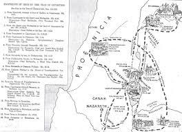 Gennesaret Map Saint Mark U0027s Orthodox Fellowship 13 Harmony Of The Gospel The