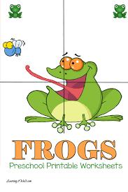 free preschool printable worksheets frog