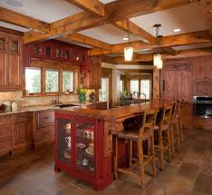 kitchen design ideas for log homes video and photos