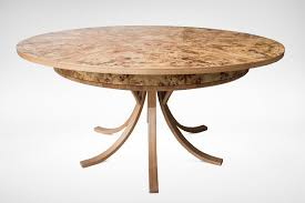 expanding circular dining table burr poplar and elm expanding circular dining table johnson furniture