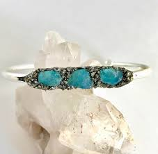 Gift For Wife Raw Apatite Jewelry Stacking Bracelet Christmas Gift Raw Crystal
