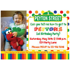birthday invites breathtaking sesame street birthday invitations