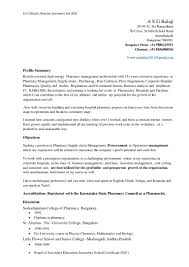 Pharmacist Sample Resume by Pharmacist Sample Resume Template Examples
