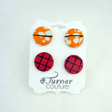 earring stud set ankara wax print earring set from eturnercouture on
