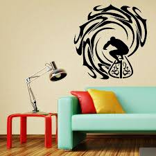 home decor wall art stickers surfer and waves wall sticker vinyl decal home decor wall art