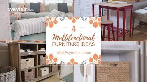 four multifunctional furniture ideas youtube