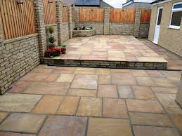 Indian Sandstone Patio by Paving Lancaster Driveways