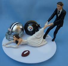 football wedding cake toppers wedding cake topper house divided football team rivalry themed you
