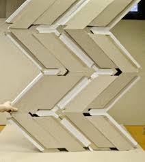 Cardboard Origami - origami engineering inspires plate house refugee shelter